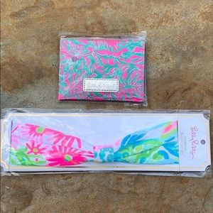 Lilly Pulitzer Headband and ID and mirror case